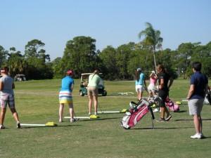 クラブメッドゴルフアカデミー練習風景
